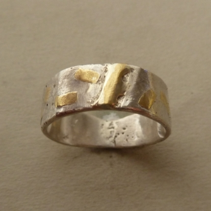 Ring Silber Gold